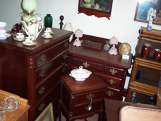 Quality 1940 2-Piece Mahogany Bedroom Set - One of Many Sets